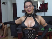 Big Chested Latina Zulima Has A New Pet Slave